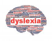 picture of dyslexia  - Dyslexia disorder symbol concept isolated on white background - JPG