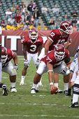 Temple Quarterback Vaughn Charlton calls the signals