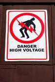 Sinal de perigo alta tensão