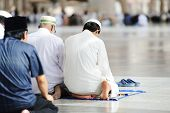 stock photo of mekah  - Islamic Prayer - JPG