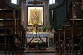 kirchliche Interieur, Oranvasso, Italien