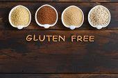 Gluten Free Grains  -  Amaranth,  Sorghum Grain, Teff And Millet poster