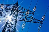stock photo of transmission lines  - a high - JPG