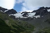 picture of firn  - Landscape of the Martial glacier near Ushuaia - JPG