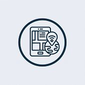 Smart Gps Route Icon. Simple Illustration Of Smart Gps Route Vector Icon For Web Design Isolated On  poster