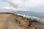 Panoramic View At The Coastline In The Natural Park Of Jandia (parque Natural De Jandina) On Canary  poster