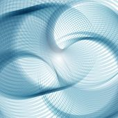 Abstract Vector Background, Round Blue Transparent Ring. Circle Shape. Circle Lines. Blue Circles. T poster
