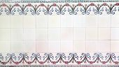 Vintage tile in bathroom in Ramsar Palace (Marmar Palace), summer residence by Reza Shah, Ramsar, Ir poster
