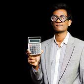 Nerdy Asian Accountant Or Maths Genius