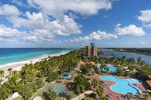 Cuba, Varadero Tourist Resort Town. Top View. Panoramic View Of The 20 Km Long Beach Of The Resort T poster