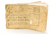 Cuban rationing card, libreta de la bodega
