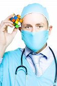 Healthcare Practitioner With A Medical Puzzle