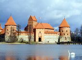 Trakai castle in Lithuania