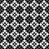 Geometrical Square Pattern Background - Abstract Black And White Vector Design From Rounded Squares poster
