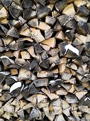 Pile Of Firewood Texture Background. Firewood Background poster