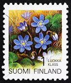 Estampilla Finlandia 1992 Hepatica, flor