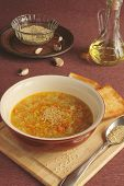 lentil soup with sesame seeds