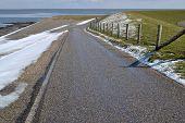 Dike along the Wadden Sea.