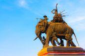 Suriyothai Monument At  Ayudhaya Province, Thailand