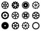 stock photo of gear wheels  - Set of vector cogwheels  - JPG