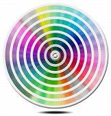 Paleta de colores Pantone - círculo de Blur