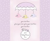 New Baby Girl Shower Card