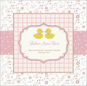 Delicate Babies Twins Shower Card