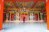 Monk Entrance Rumtek Monastery Locking Doors