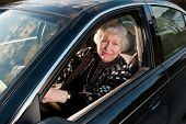 86 Year Old Woman  Drivingn  Car