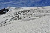 Crevasses On The Stockji Glacier