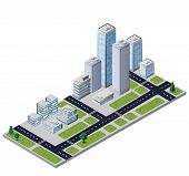 Vector city block