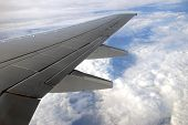 Image Of A Wing Plane In Sky