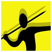 Javelin Throwing Pictogram