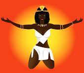 Erotic Beautiful Girl Priestess Of Egypt