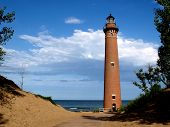 Little Sable Point Lighthouse near Silver Lake State Park between Ludington and Muskegon Michigan