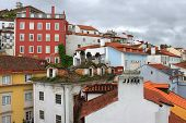 Colorful Houses Of Coimbra, Portugal