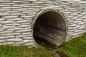 Tempestade sargeta drenagem tubo concreto revestimento