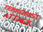 stock photo of terrorist  - Terrorist Attack Concept - JPG