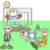Jogo de futebol injusto