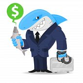 Shark business keeps suitcase and fish