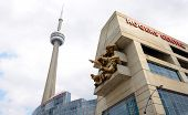 CN Tower and Roger's Centre in Toronto