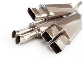 picture of noise pollution  - exhaust silencer automobile muffler - JPG