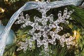 Christmas Snowflake And Pine