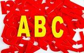 Abc Letter Closeup