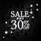 Noble Christmas Sale 30 Percent Off Label With Stars