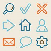 Basic web icons, vintage series