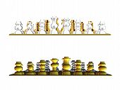 Gold And White Chess