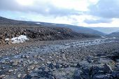 foto of taimyr  - Rocky canyon of the mountain river - JPG