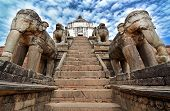 Elephants Protecting A Temple In Bhaktapur, Nepal