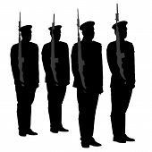 Honor Guard Silhouette